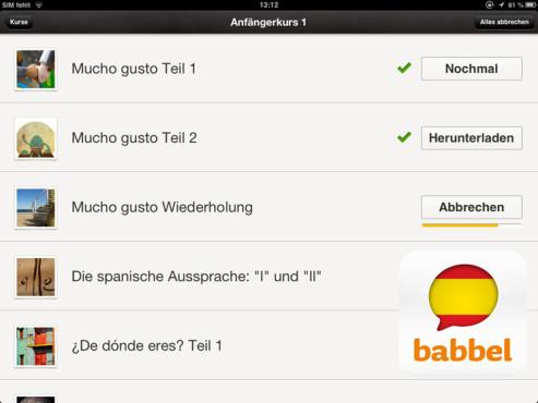 Babbel Spanisch ©Lesson Nine GmbH