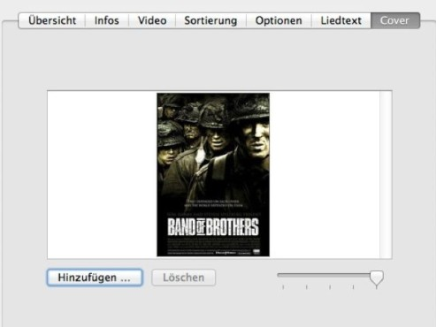 DVD-Cover in iTunes © COMPUTER BILD