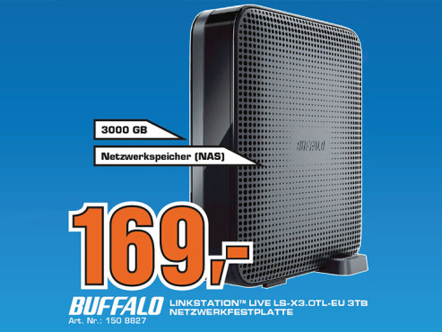 Buffalo Linkstation Live 3TB (LS-XL3.0TL) © Saturn