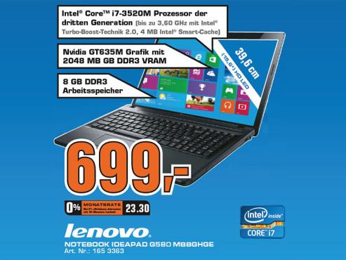 Lenovo IdeaPad G580 MbbGHGE ©Saturn