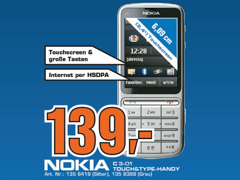 Nokia C3 Touch and Type ©Saturn