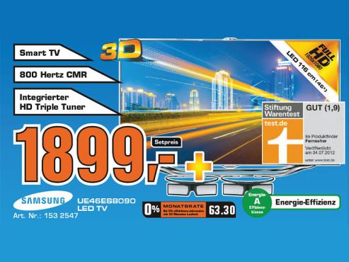 Samsung UE46ES8090 ©Saturn