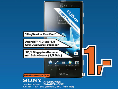 Sony Xperia ion ©Saturn