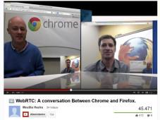 Videochat zwischen Firefox und Chrome ©Chrome/Firefox/YouTube