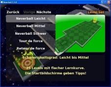Neverball: Große Auswahl an Levels und Schwierigkeitsgraden