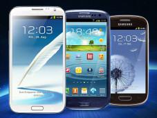 Aktuelle Galaxy-Smartphones ©Samsung
