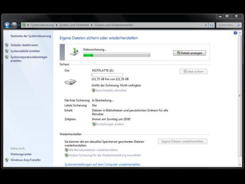 Windows: Datensicherung in 30 Sekunden ©COMPUTER BILD