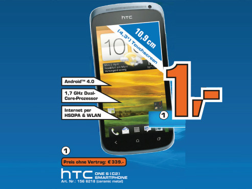 HTC One S C2 © Saturn