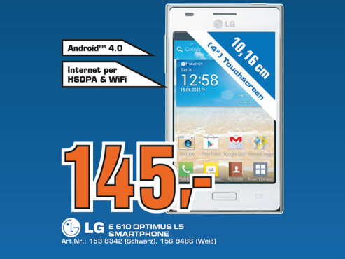 LG Optimus L5 © Saturn