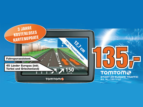 TomTom Start 25 Europe Traffic © Saturn