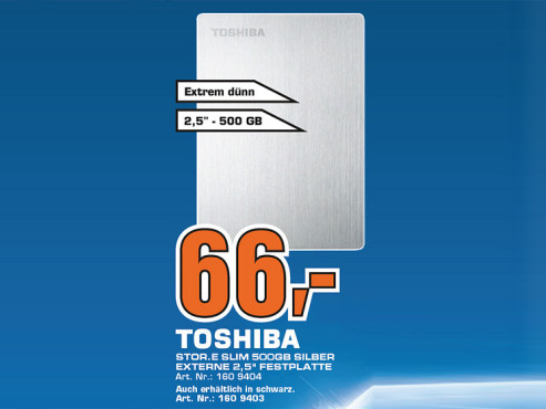 Toshiba Stor.E Slim 500GB © Saturn