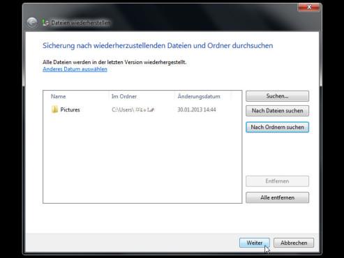 Windows: Dateien und Ordner wiederherstellen ©COMPUTER BILD