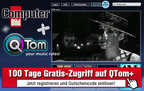 QTom+ 100 Tage kostenlos testen ©QTom, COMPUTER BILD