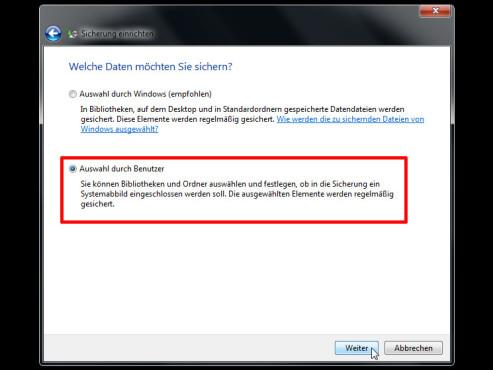 Windows: Sicherungsplan nach Wunsch ©COMPUTER BILD