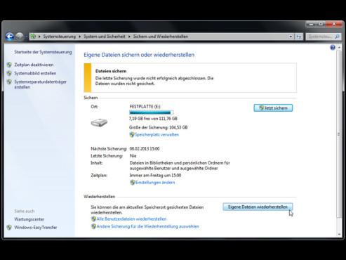 Windows mit Wiederherstellungspunkten retten ©COMPUTER BILD