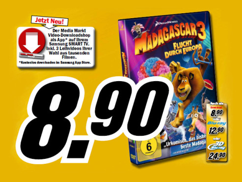 Madagascar 3 – Flucht durch Europa © Media Markt
