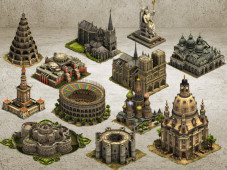 Forge of Empires die legend�ren Geb�ude © InnoGames