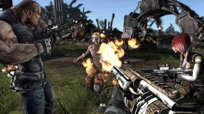 Actionspiel Borderlands: Waffe © Gearbox Software