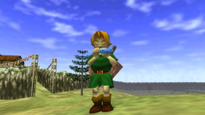 Actionspiel Legend of Zelda –  Ocarina of Time: Flöte © Nintendo