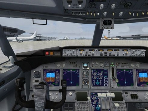 Simulation Microsoft Flight Simulator: Cockpit © Microsoft