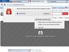 Mozilla Firefox 20: Click-to-Play ©COMPUTER BILD