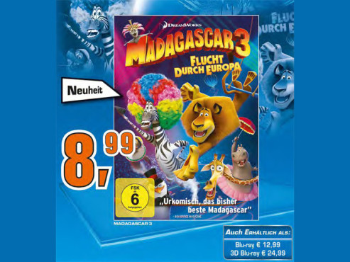 Madagascar 3 - Flucht durch Europa ©Saturn