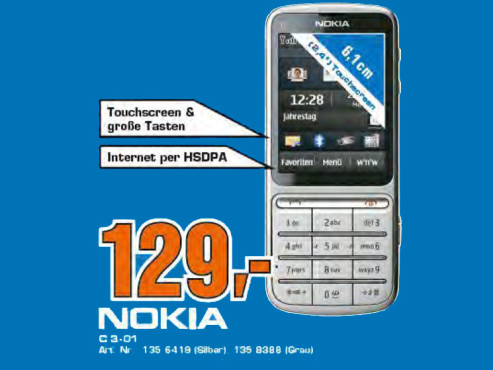Nokia C3 Touch and Type © Saturn