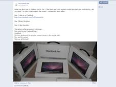 Gewinnspiel-Fake bei Facebook ©Facebook