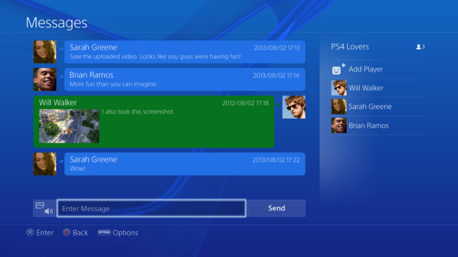 Playstation 4: Chat ©Sony