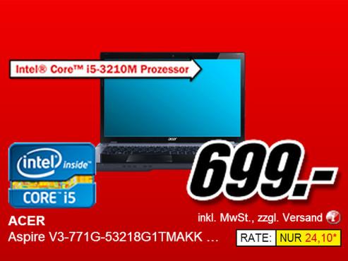 Acer Aspire V3-771G-53218G1TMAKK NX.R ©Media Markt