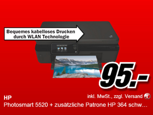 Hewlett-Packard HP Photosmart 5520 © Media Markt