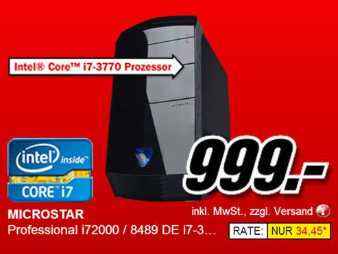 Microstar Professional i72000 / 8489 DE ©Media Markt
