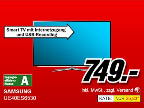 Samsung UE40ES6530 ©Media Markt
