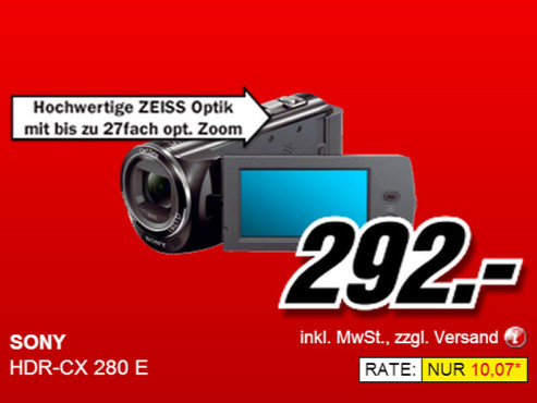 Sony HDR-CX280E © Media Markt