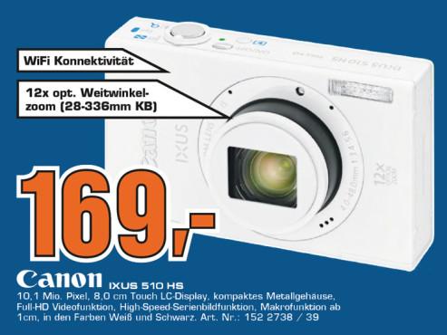 Canon IXUS 510 HS ©Saturn