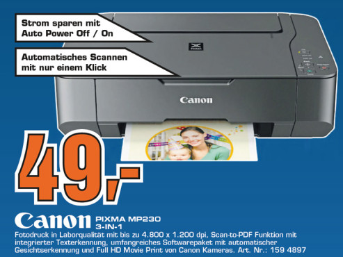 Canon PIXMA MP230 © Saturn