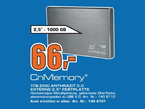 CnMemory 2.5 Zinc 1TB ©Saturn