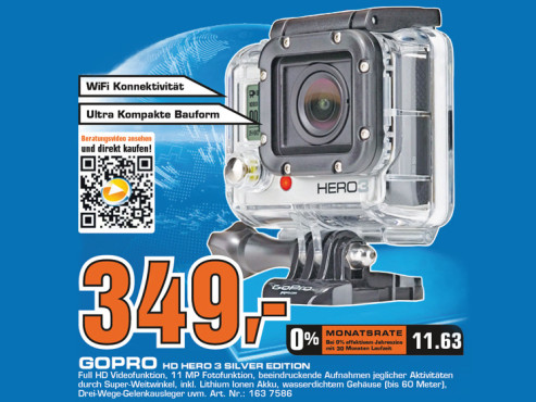 GoPro Hero3 Silver Edition © Saturn