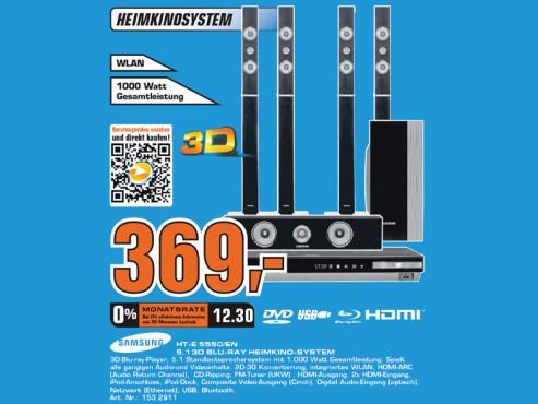 Samsung HT-E5550 ©Saturn