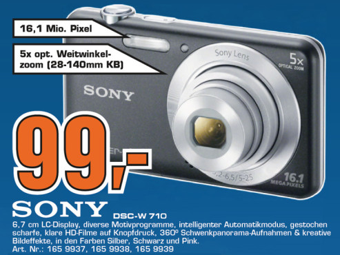 Sony Cyber-shot DSC-W710 © Saturn