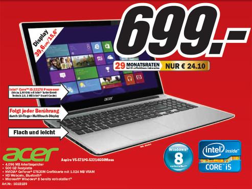 Acer Aspire V5-571PG ©Media Markt