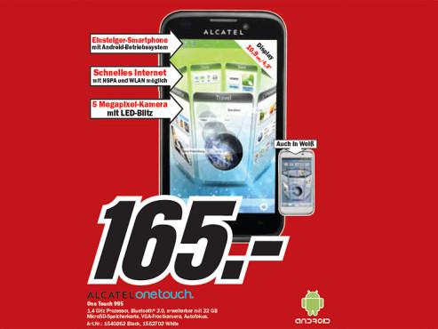 Alcatel One Touch 995 ©Media Markt