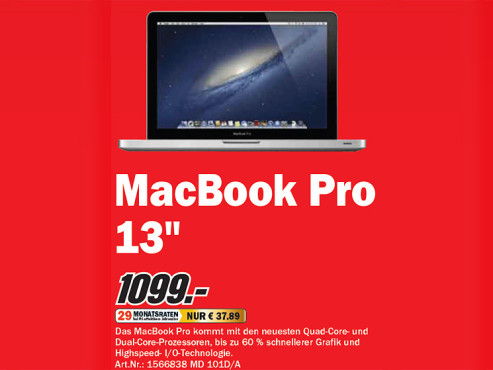 Apple MacBook Pro © Media Markt