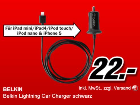 Belkin Lightning KFZ-Ladegerät ©Media Markt