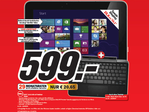 Dell XPS 10 © Media Markt
