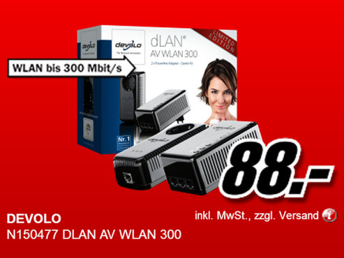 Devolo dLAN AV WLAN 300 © Media Markt