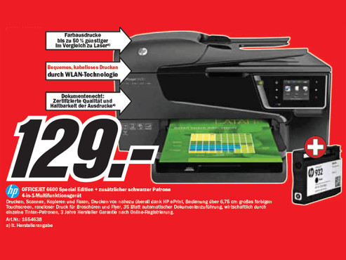 HP Officejet 660 Special Edition © Media Markt
