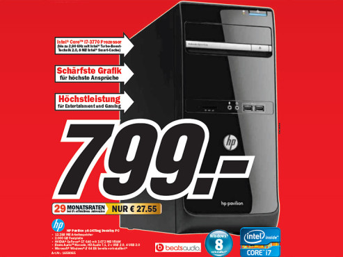 HP Pavillion p6-2475eg © Media Markt