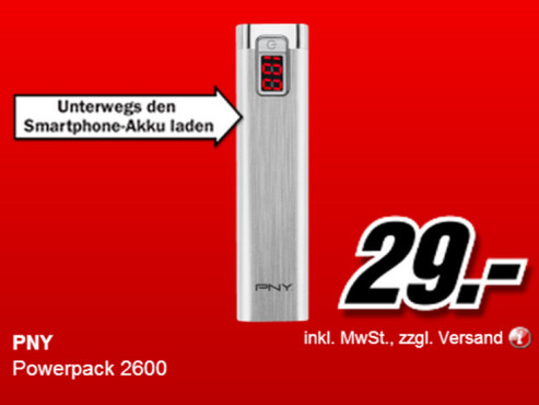 PNY PowerPack 2600 © Media Markt