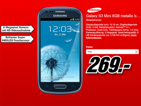 Samsung Galaxy S3 mini © Media Markt